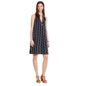 Madewell Black/White Ikat Stripe Casual Dress